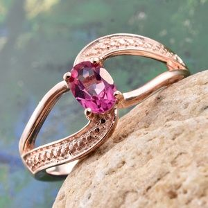 Jewelry - Pure Pink Mystic Topaz ION Plated 18K RG Ring